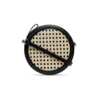 Mehry Mu Black Tambourine Rattan Cross Body Bag - Preto