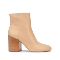 Mercedes Castillo Ankle Boot Com Salto - Marrom