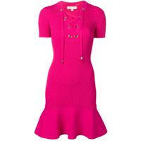 Michael Kors Collection Vestido Canelado - Rosa