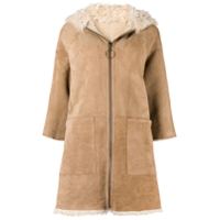 Mih Jeans Osten Reversible Shearling Coat - Neutro