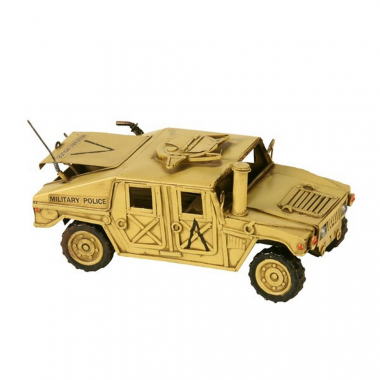 Miniatura Jeep Militar Decorativo De Metal