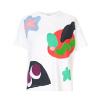 Mira Mikati Camiseta Monster - Branco