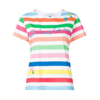 Mira Mikati Camiseta 'rainbow Stripe' Bordada - Branco
