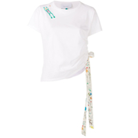 Mira Mikati Side Ribbon T-Shirt - Branco