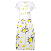 Mira Mikati Sun Print T-Shirt Dress - Branco