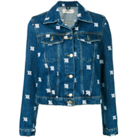 Misbhv All-Over Logo Denim Jacket - Azul
