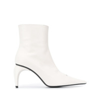 Misbhv Curved-Heel Leather Ankle-Boots - Branco