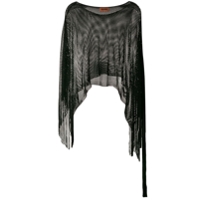 Missoni Black Fringed Poncho - Preto