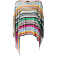 Missoni Multicoloured Striped Poncho - Verde