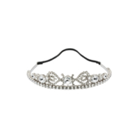 Miu Miu Crystal Hairband - Prateado