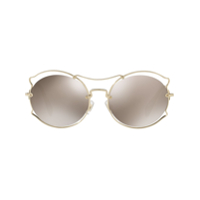 Miu Miu Eyewear Butterfly Eye Sunglasses - Dourado