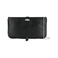 Miu Miu Logo Clutch Bag - Preto