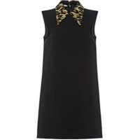 Miu Miu Vestido Mini Com Animal Print - Preto