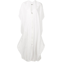 Mm6 Maison Margiela Kaftan Dress - Branco