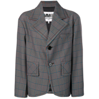 Mm6 Maison Margiela Oversized Fit Blazer - Azul