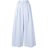 Mm6 Maison Margiela Striped Palazzo Pants - Azul