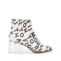 Mm6 Maison Margiela Ankle Boot Com Estampa - Branco