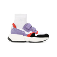 Mm6 Maison Margiela Touch Strap Sock Sneakers - Branco
