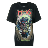 Mm6 Maison Margiela Zombie Cat Print T-Shirt - Preto