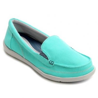 Mocassim Crocs Walu Ii Canvas Loafer-Feminino