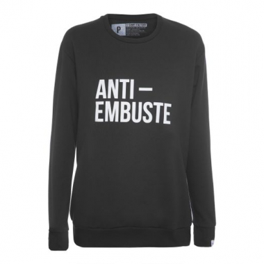Moletom Anti Embuste T-Shirt Factory - Preto