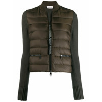 Moncler Contrast Sleeve Padded Jacket - Marrom