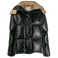 Moncler Hooded Puffer Jacket - Preto