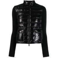 Moncler Panelled Padded Jacket - Preto