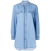 Moschino Camisa Jeans Oversized - Azul