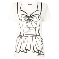 Moschino Printed Crewneck T-Shirt - Branco