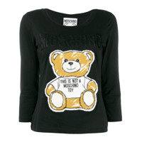 Moschino Camiseta Teddy Bear - Preto
