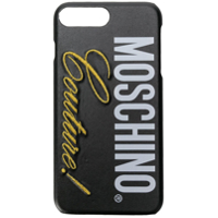 Moschino Capa Para Iphone 8 Plus Com Logo - Preto