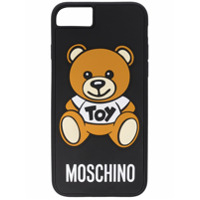 Moschino Capa Para Iphone Plus 'bear' - Preto