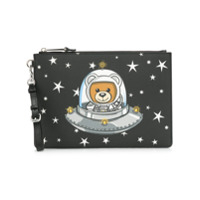 Moschino Clutch Com Estampa 'teddy Bear' - Preto