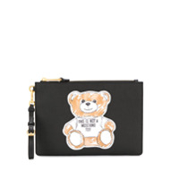 Moschino Clutch Com Patch - Preto