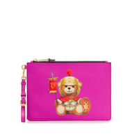 Moschino Clutch 'Roman Teddy Bear' - Rosa