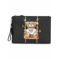 Moschino Clutch 'toy Bear' - Preto