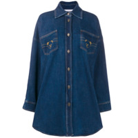 Moschino Denim Shirt Dress - Preto