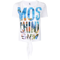 Moschino Camiseta Com Patch De Logo - Branco