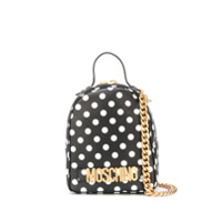 Moschino Polka Dot Backpack - Preto