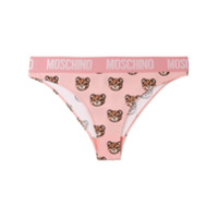 Moschino Ted Print Briefs - Rosa
