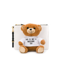Moschino Clutch Teddy Bear - Branco