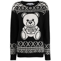 Moschino Teddy Bear Norwegian Sweatshirt - Preto