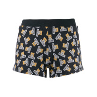 Moschino Short Com Estampa Teddy Bear - Azul