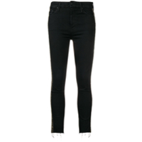 Mother Bead Embroidered Jeans - Preto