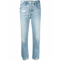 Mother Calça Jeans Cropped Destroyed - Azul