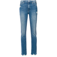 Mother Distressed Skinny Jeans - Azul