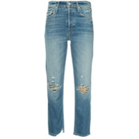 Mother Faded Straight-Leg Jeans - Azul