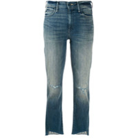 Mother mid rise cropped jeans - Azul