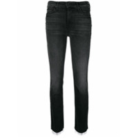 Mother Straight-Leg Cropped Jeans - Preto